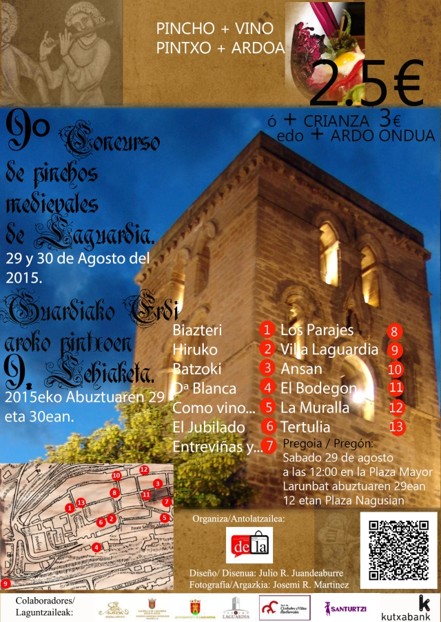 Cartel Pintxos Medievales Laguardia 2015